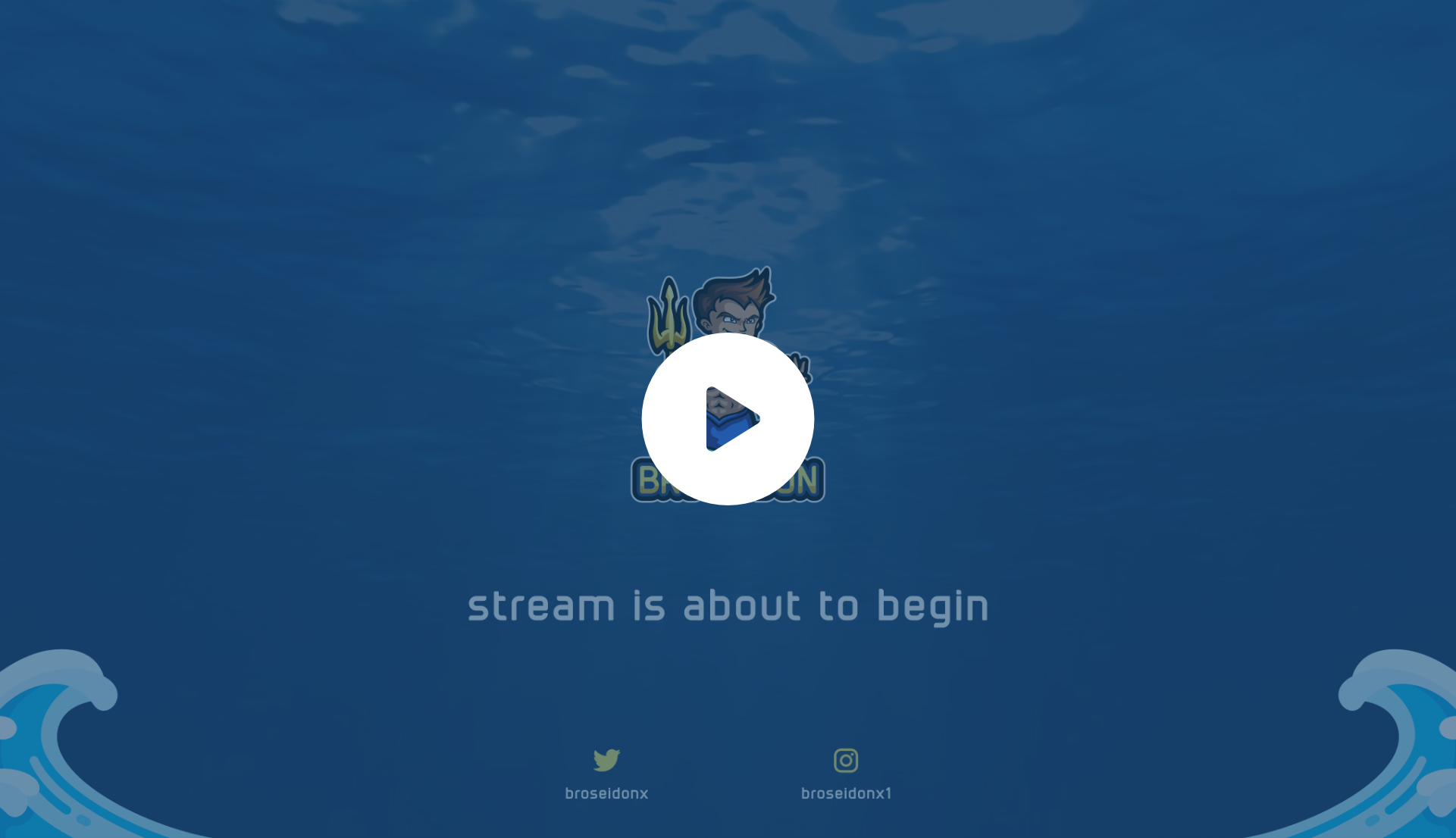 Animated twitch intro for a customer using an underwater effect