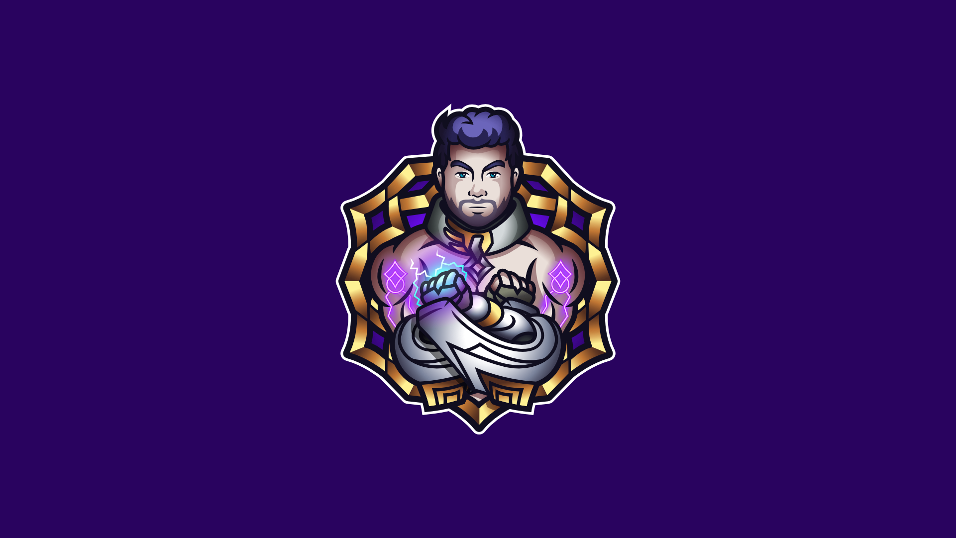 Mascot logo for a customer based on Sylas from the video game