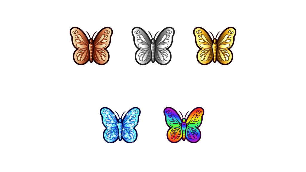 Simple butterfly design for sub badges