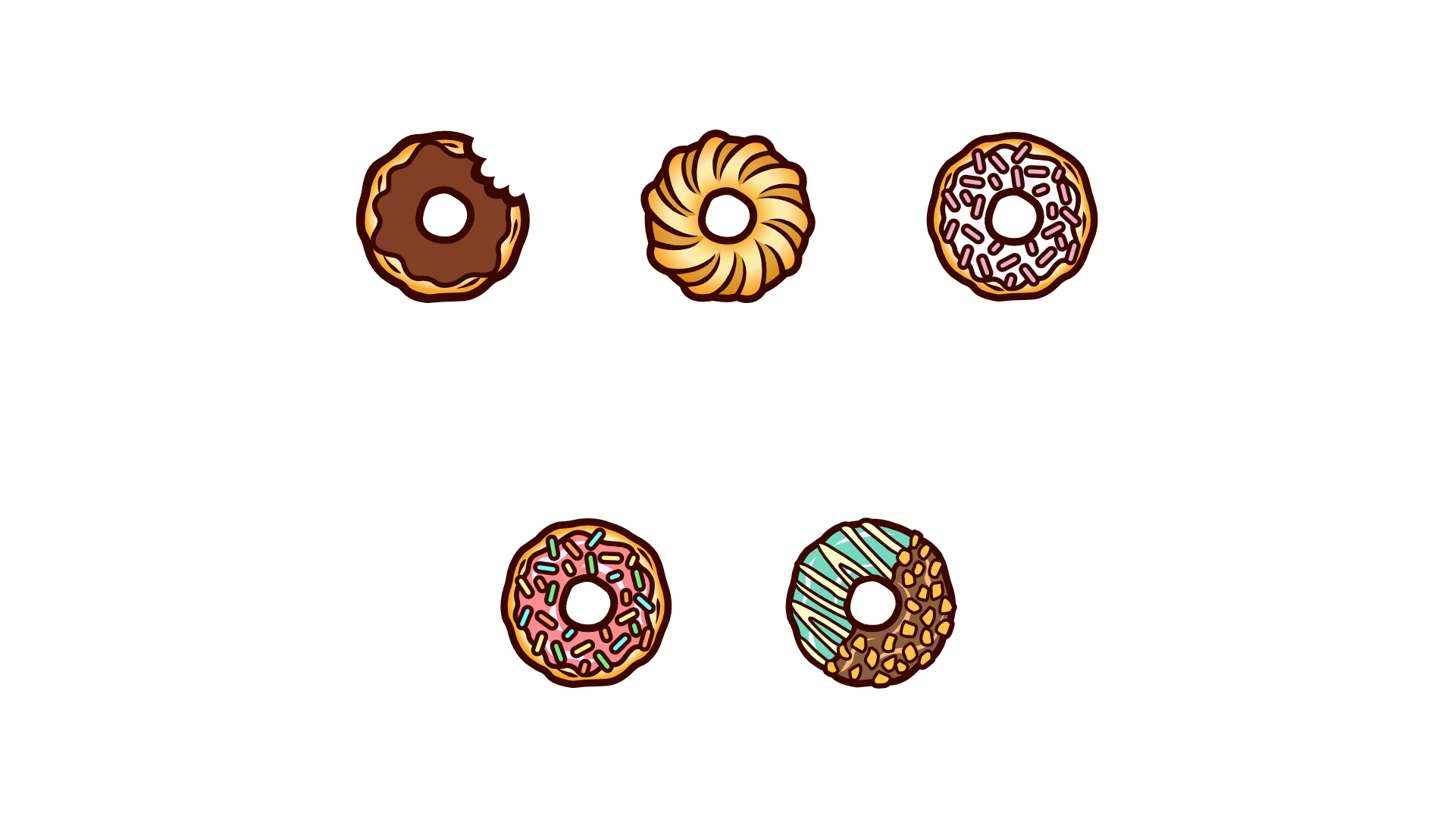 Simple donut twitch sub badges for a customer
