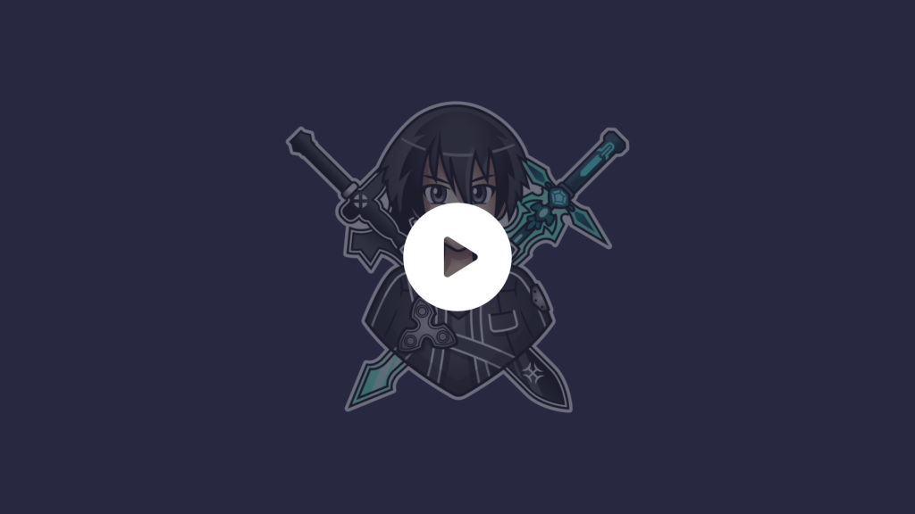 Animated alerts for Twitch and mixer using a kirito theme from the famous anime.