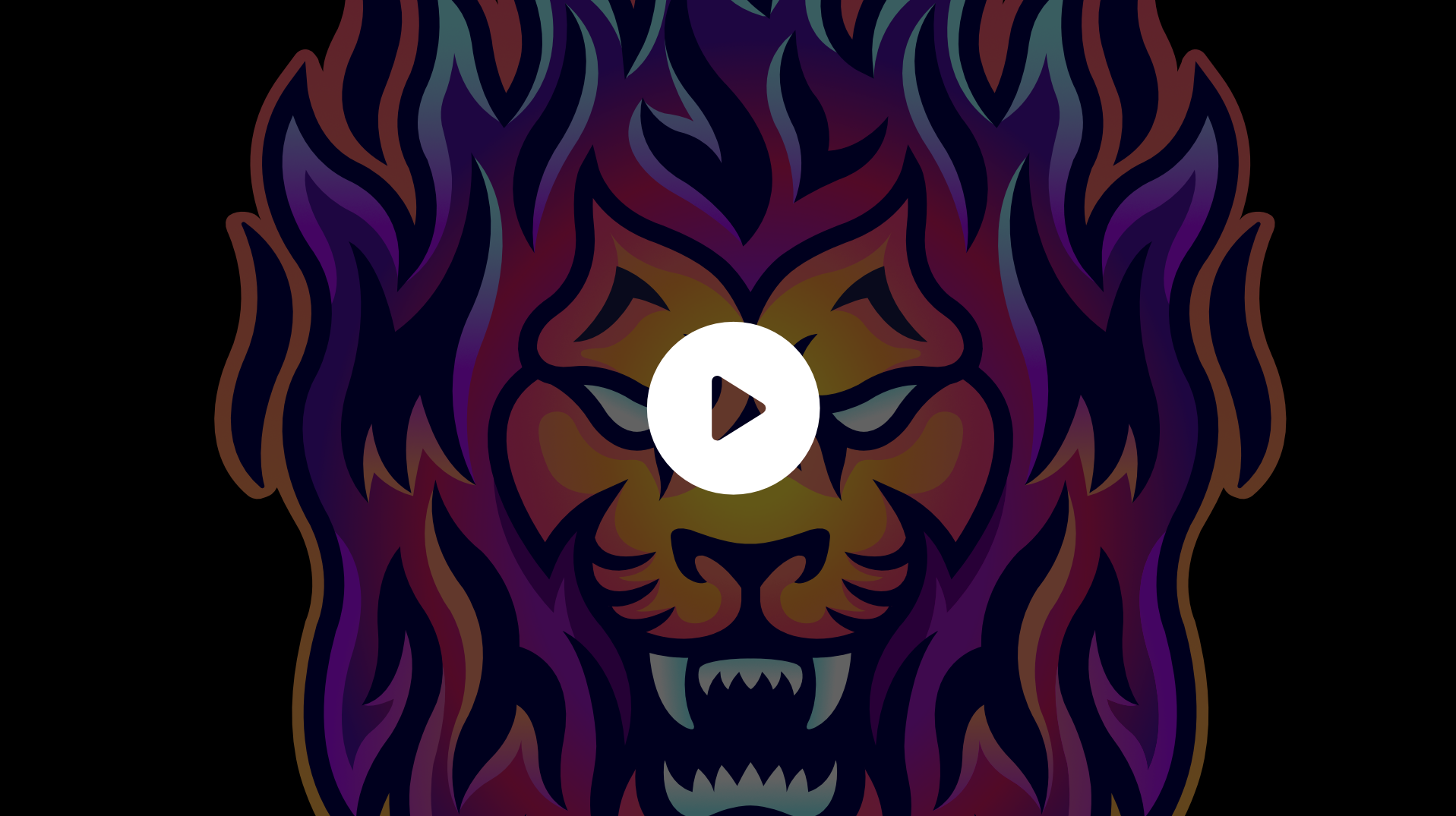 Custom animated twitch alerts using a lion mascot design