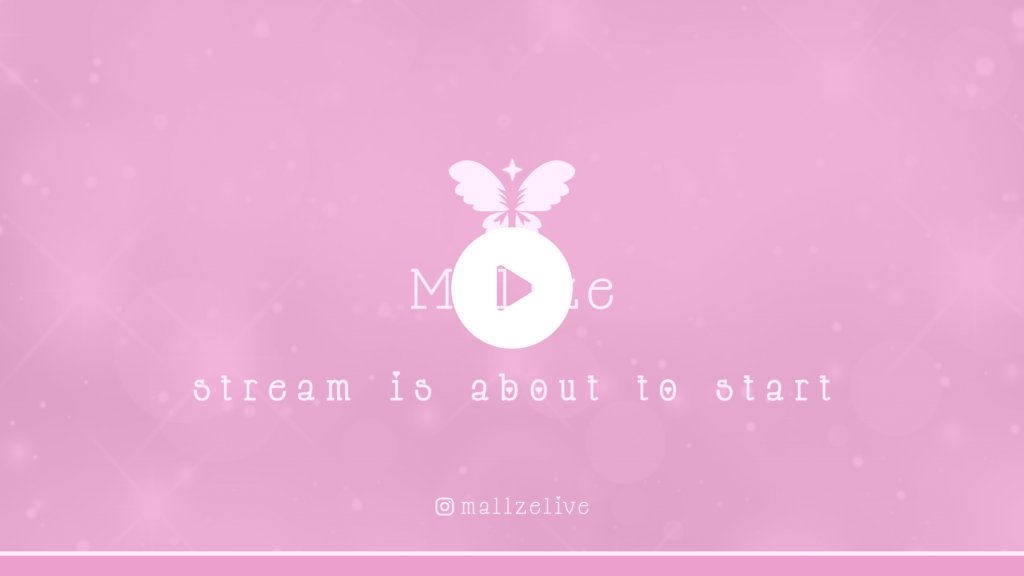 Simple animated screen using a butterfly logo and sparkles in the background for a feminine effect