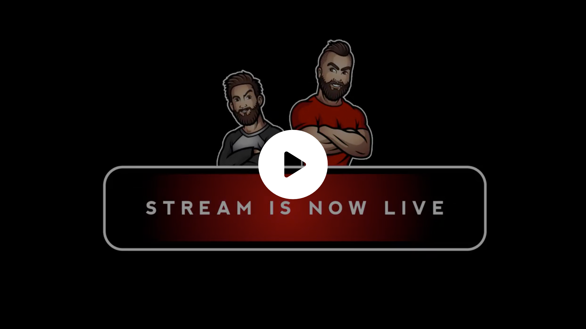 Simple animation supposed to be used as a social media post when the clients stream goes live