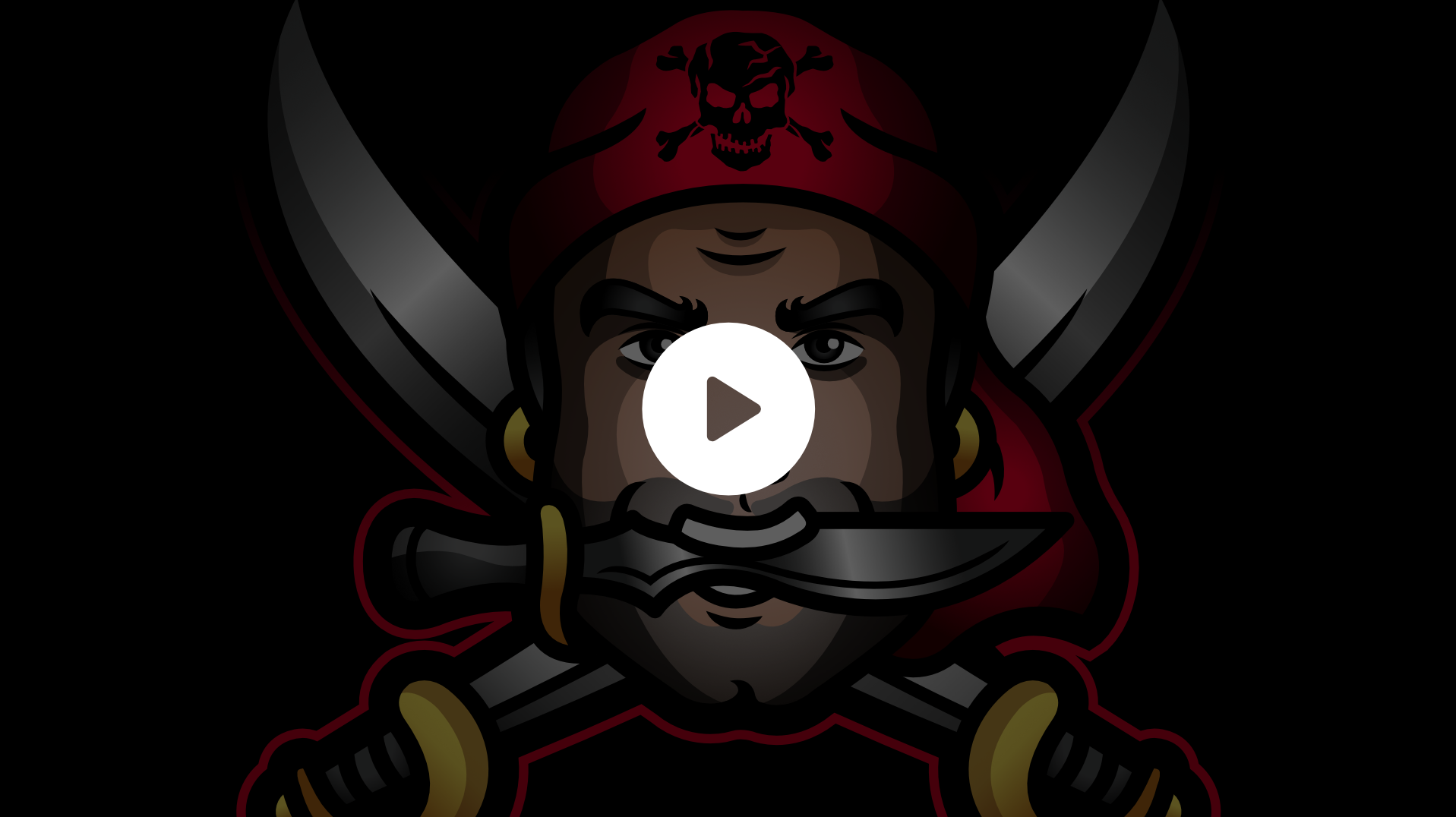 Animated alerts using a pirate mascot logo. Designed for a Twitch streamer