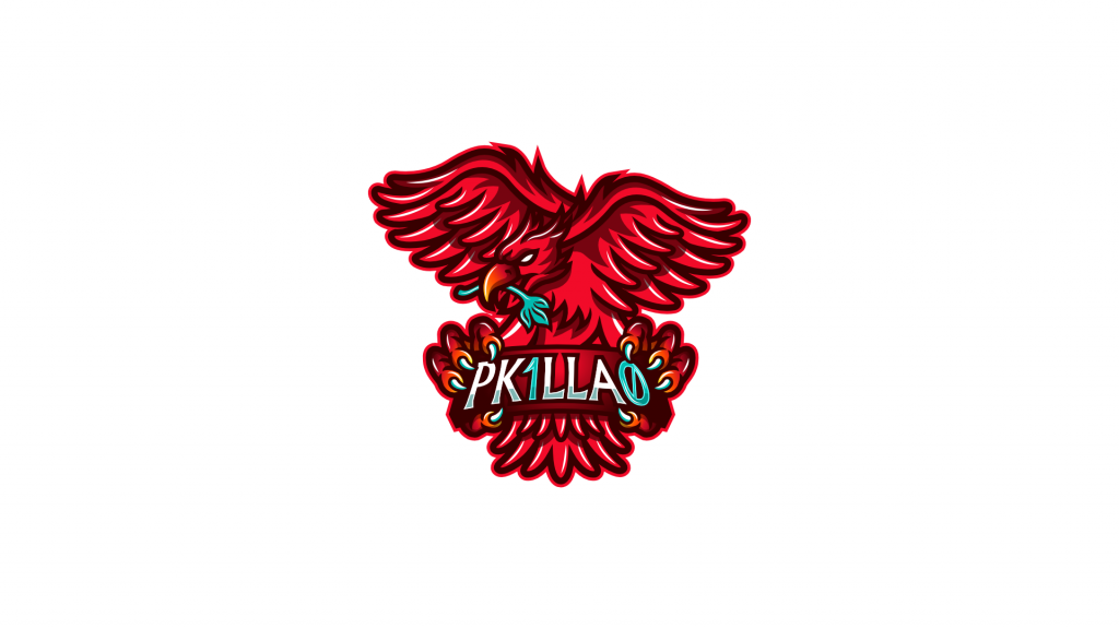 Mascot logo for a streamer using Liverpool FC colours