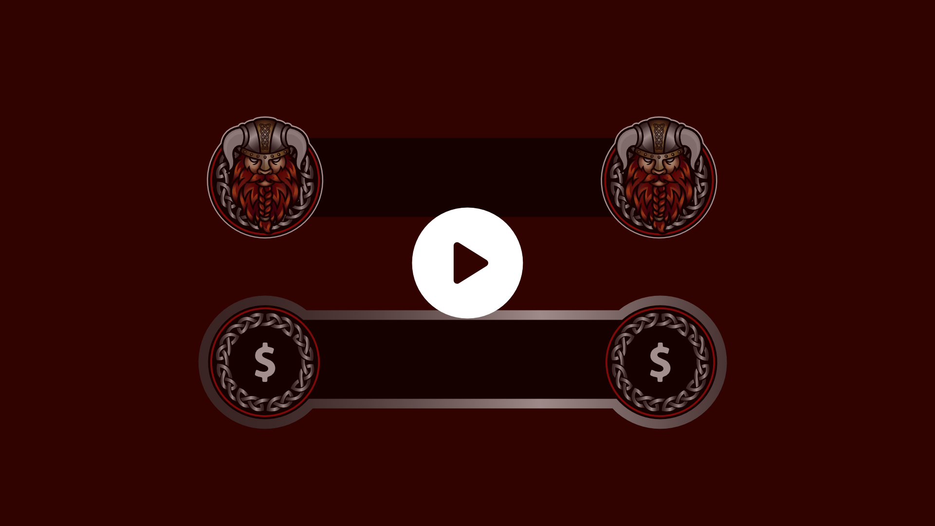 Viking themed twitch alerts using the customers logo