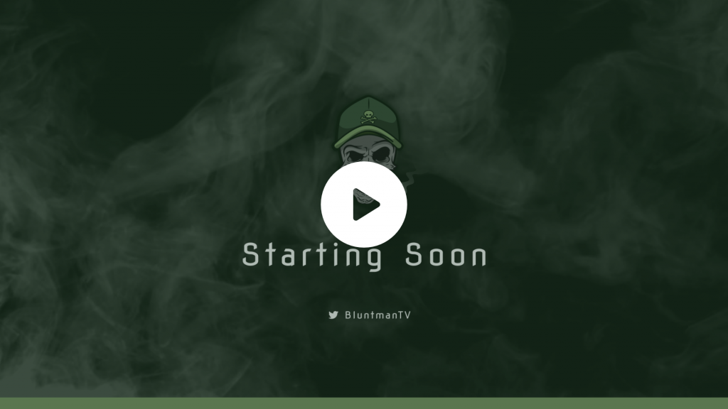Animated screen for a customer using a smoke and skull theme