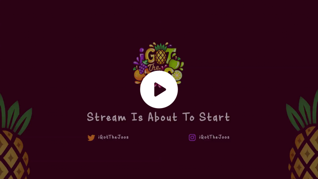 Colourful animated intro for a streamer using her fruity logo